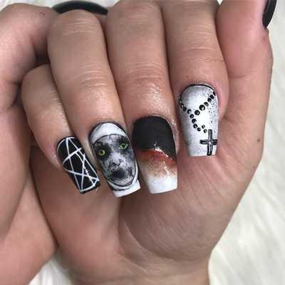 Σχέδια για αποκριάτικα νύχια (10)