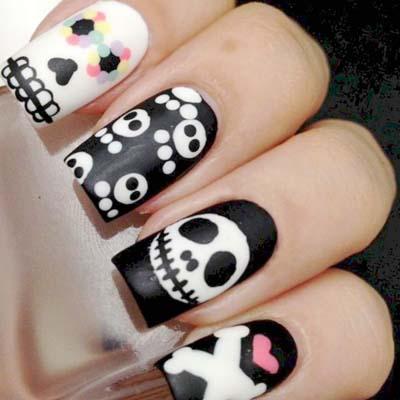 Σχέδια για αποκριάτικα νύχια (3)