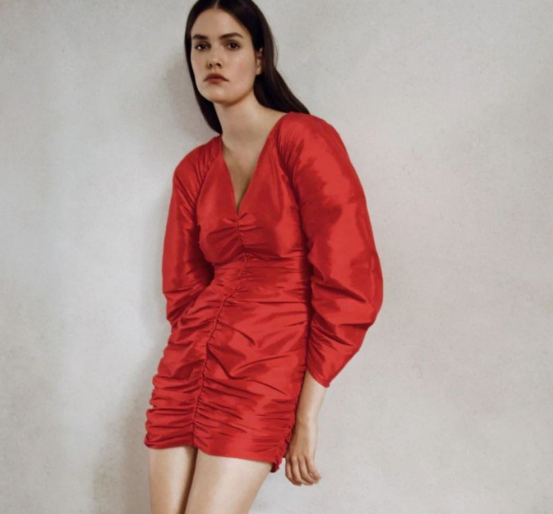 Zara κόκκινο φόρεμα